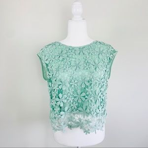 Charlotte Russe Lace Floral top